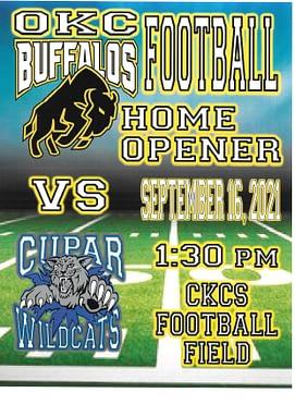 OKC Buffalo's Football Home Opener