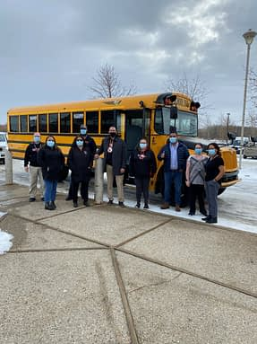 CKCS receives 2 brand new school busses
