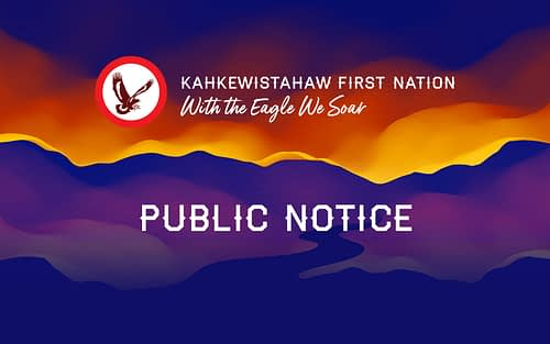 Update for Kahkewistahaw 1907 Specific Claim Trust Applications
